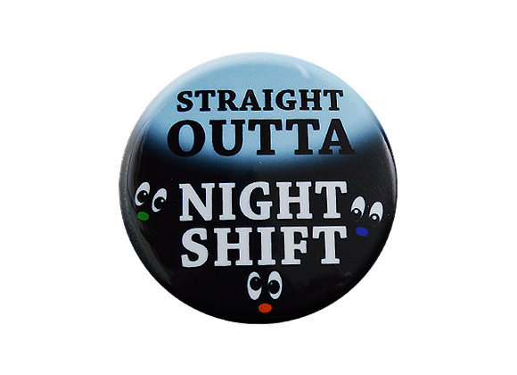 Straight Outta Night Shift Nurse Badge Topper