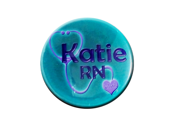 Katie RN Stethoscope Badge Topper