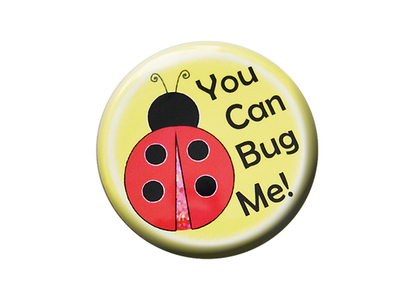 You Can Bug Me Ladybug Nurse Badge Reel Topper