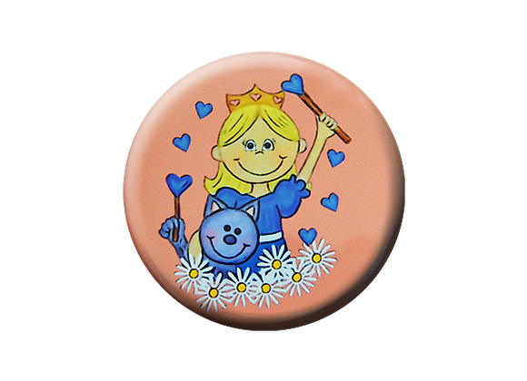 Princess and Cat Love Magic Nurse Badge Reel Topper