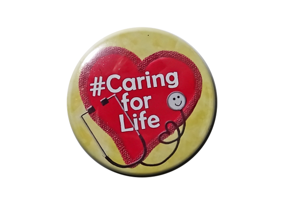 #Caring for Life Heart and Stethoscope Topper