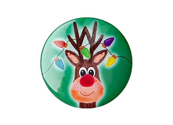 Rudolph and Christmas Lights Topper