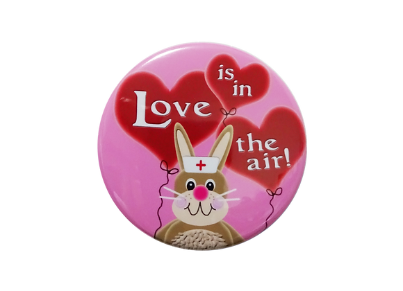 Love is in the Air Balloon Nurse Bunny Topper