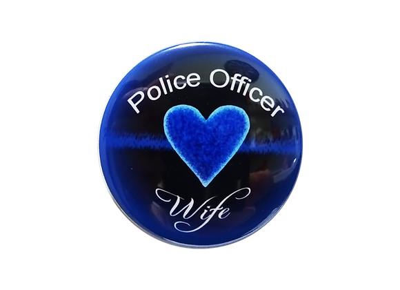 Police Officer Wife Electric Blue Topper