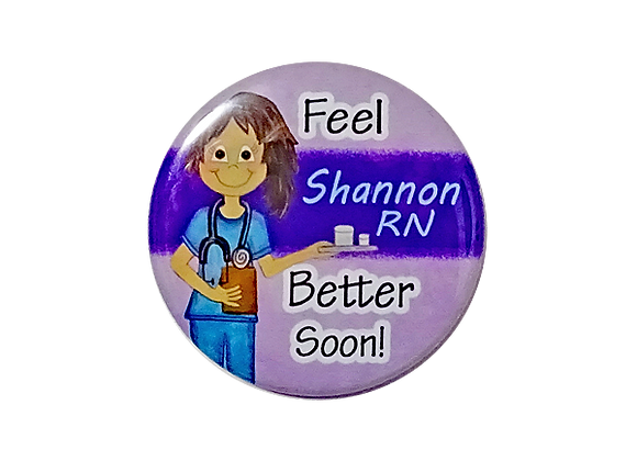 Feel Better Soon Personalized Medicine Nurse Topper