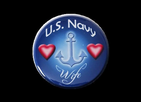 U. S. Navy Wife Badge Reel Topper