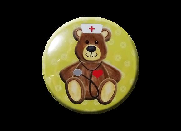 Toy Teddy Bear Pediatric Nurse Topper