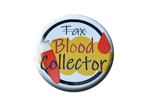 Blood Collector Phlebotomist Badge Reel Topper