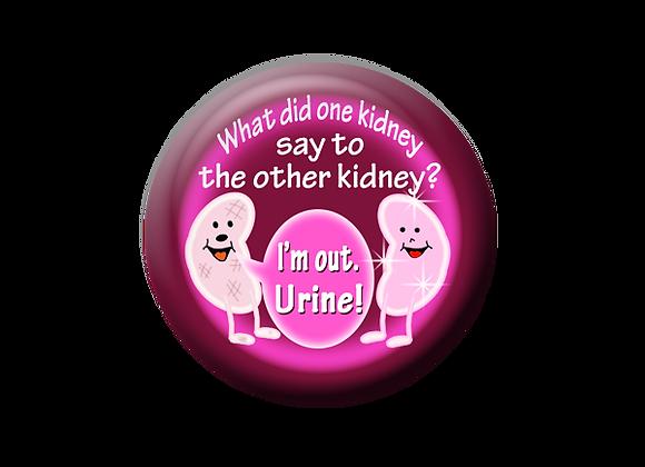 Kidney Humor Transplant Nurse Badge Reel Topper
