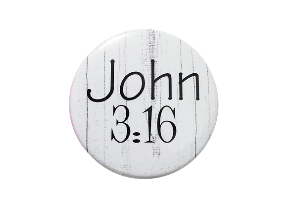 John 3:16 Black & White Topper