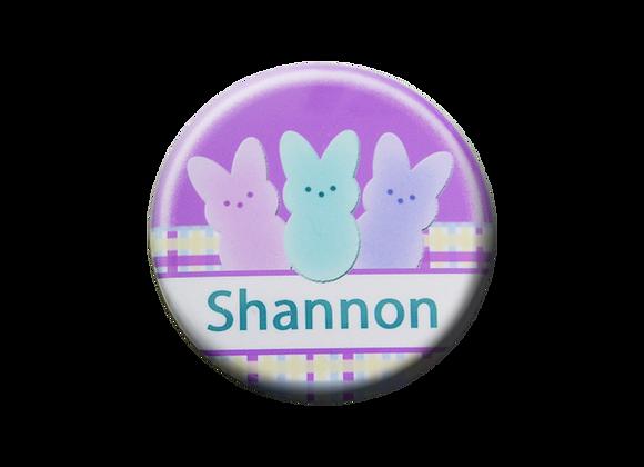 Easter Bunny Peep Nurse Badge Topper