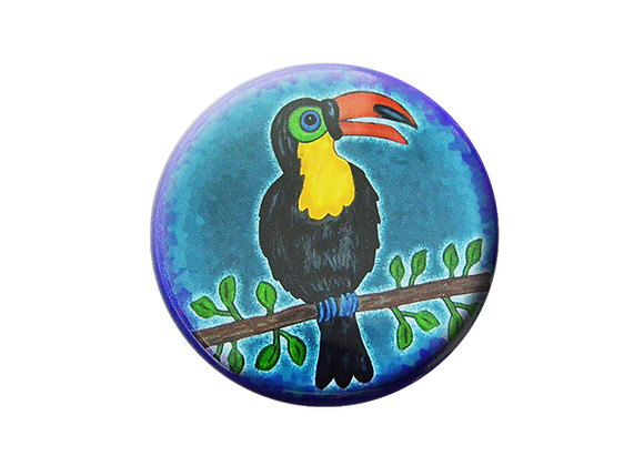 Toucan Jungle Animals Badge Reel Topper