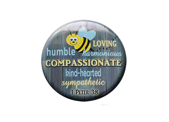 Be Loving, Be Compasionate, 1 Peter 3:8 Badge ID Topper