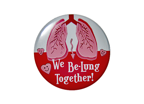 We Be-Lung Together Badge Reel Topper
