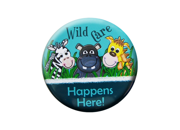 Jungle Animals Wild Care Happens Here Badge Topper