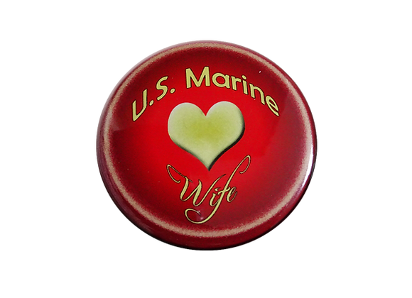 U.S. Marine Wife Support Badge Reel Topper