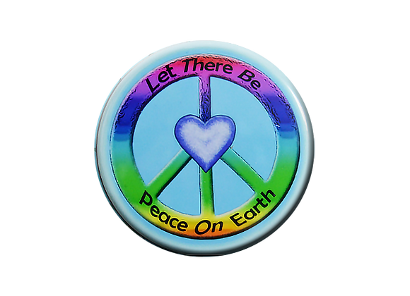 Let There Be Peace On Earth Badge Topper