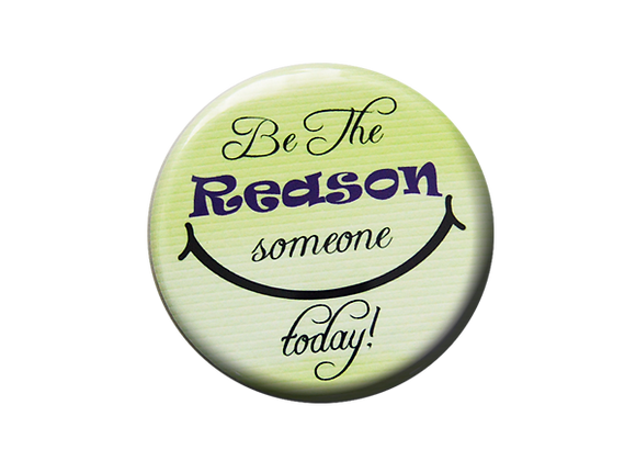 Be The Reason Someone Smiles Today Nurse Badge Reel Topper