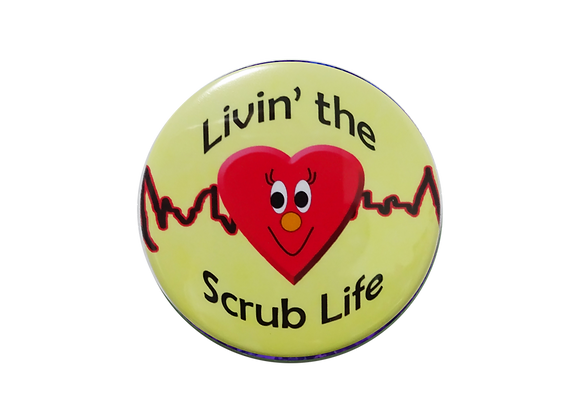 Happy Heart Livin' the Scrub Life Topper