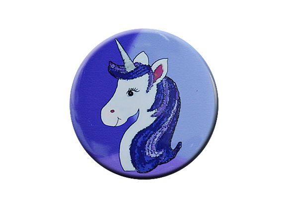 Purple Unicorn Glitter Badge Reel Topper
