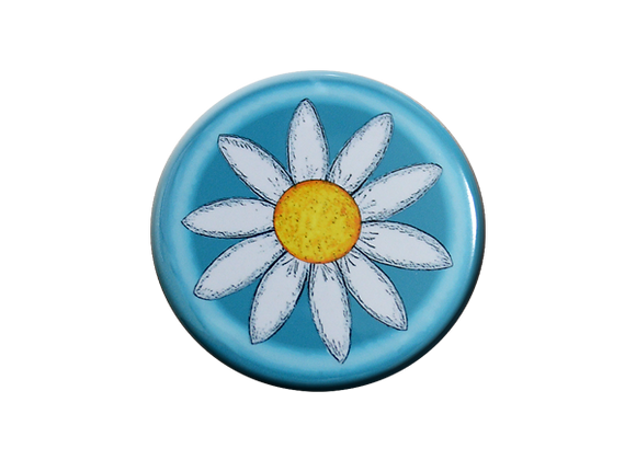 Bright Daisy and Shades of Blue Badge Topper