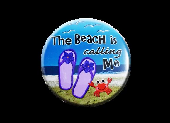 Beach is Calling Me Badge Reel Topper