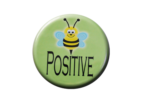 Be Positive Nurse Badge Reel Topper