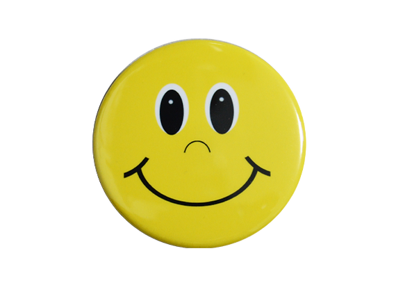 Yellow Smile Badge Reel Topper