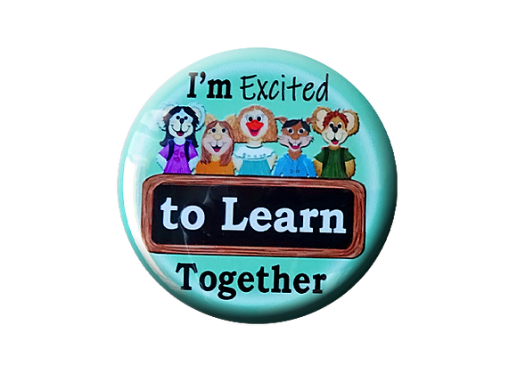 I'm Excited to Learn Together Teacher Topper