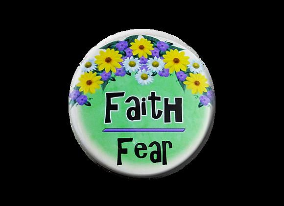 Faith Over Fear Floral Badge Topper