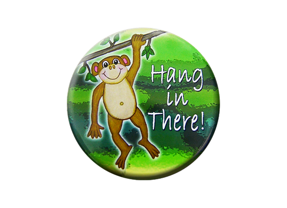 Monkey Hang In There Badge Reel Topper