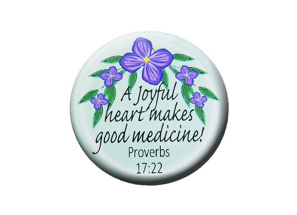 A Joyful Heart Makes Good Medicine Badge Reel Topper