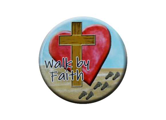 Walk by Faith Badge Reel Topper