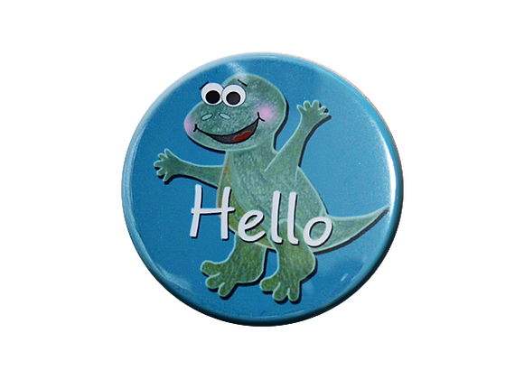 Hello Happy Dinosaur Badge Topper