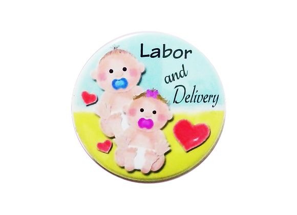 Labor and Delivery Twin Babies Topper
