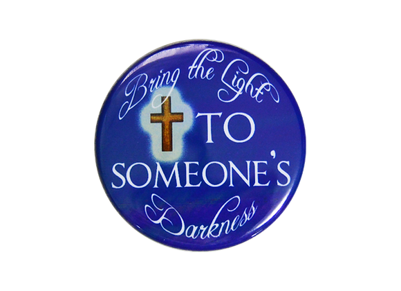 Bring the Light to Someone's Darkness Nurse Badge Reel Topper