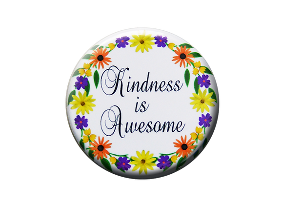 Kindness is Awesome Nurse Badge Reel Topper