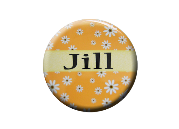 Field of Daisies Yellow Floral Badge Topper