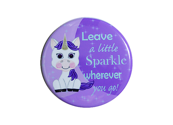 Leave a Little Sparkle Wherever You Go Unicorn Pediatric Badge Topper