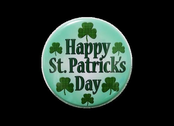 Happy St. Patrick's Day Badge Reel Topper