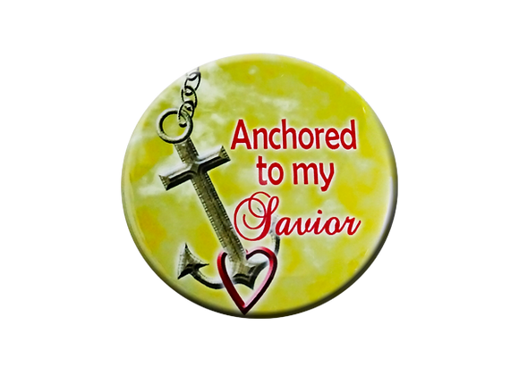Anchored to My Savior Badge Topper