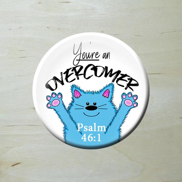 Words of Encouragement. Blue Cat Hooray Psalm 46:1.