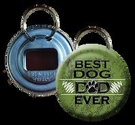 Best Dog Dad Ever Green Button Bottle Opener