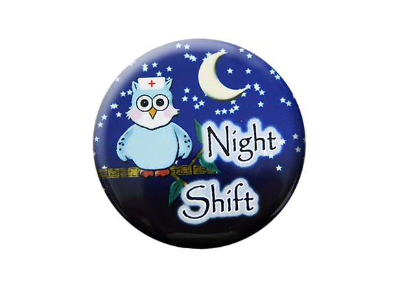 Night Shift Nurse Badge Topper