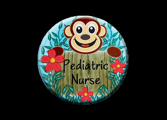 Happy Monkey Pediatric Badge Topper