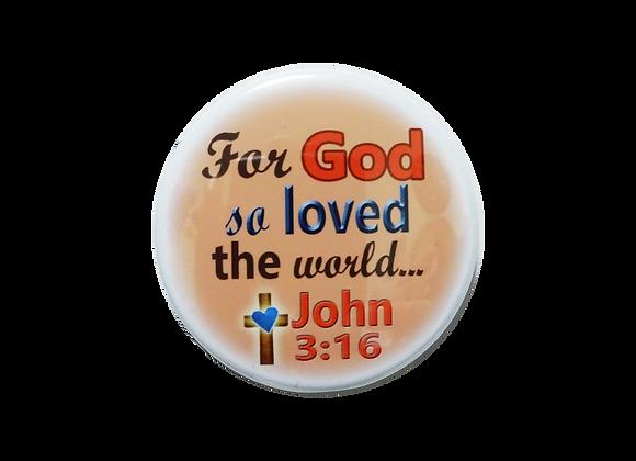 John 3:16 Cross Heart Topper