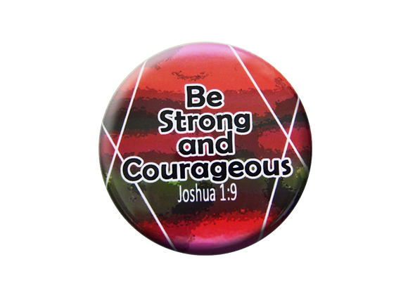 Be Strong and Courageous Nurse Badge Reel Topper