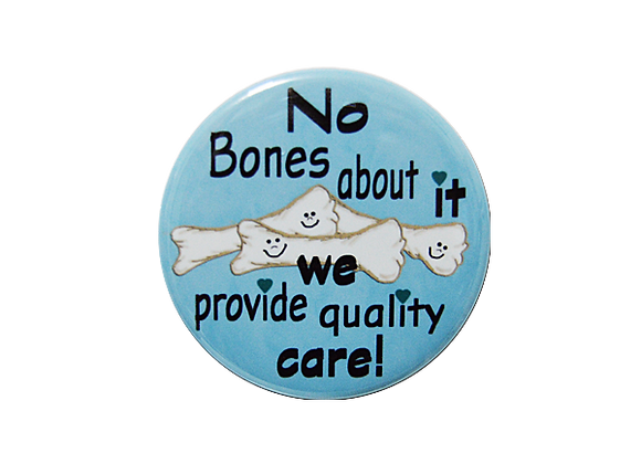 No Bones About It Humorous Healthcare Badge Reel Topper
