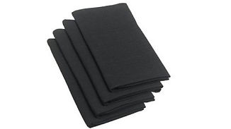 black linen napkins