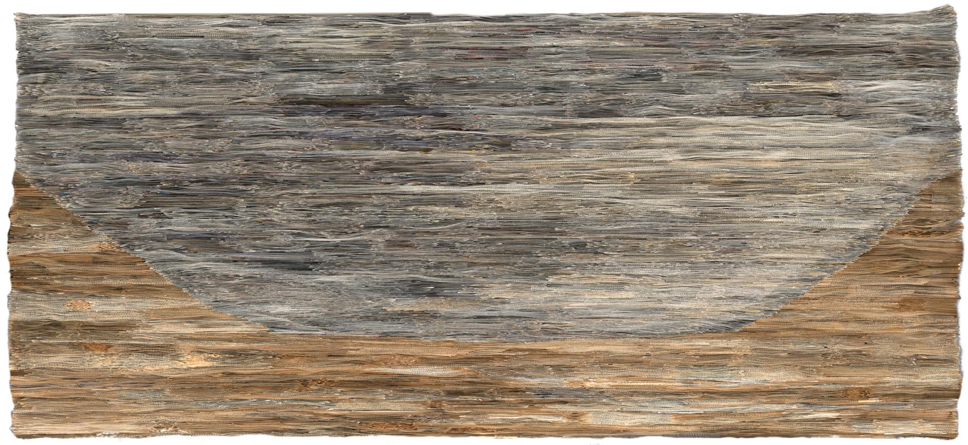 Earth Mountain | Folded paper | 200x88cm